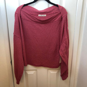 NWT We The Free Raspberry Long Sleeve Top XS